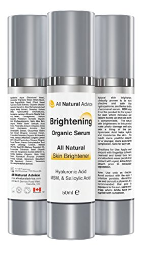 All Natural Advice Hautaufhellendes Serum Mit Hyaluronsäure, 1er Pack (50 ml)