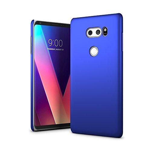 SLEO Hülle für LG V30 Hülle harte PC SchutzHülle [Anti-Fingerabdrücke] Stilvolle [soft-touch] Rückseite Tasche für Hülle für LG V30 - Blau