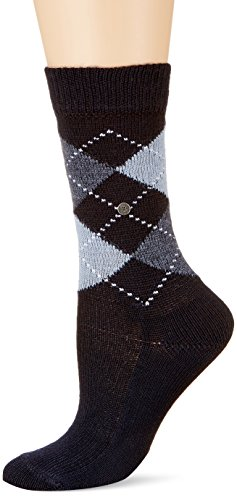 Burlington Damen Socken Whitby, Gr. 36/41, blau (marine 6120)