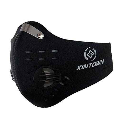 SKYSPER Máscara Ciclismo contra Polvo/contaminación Mitad Cara Motocicleta (N95-negro)