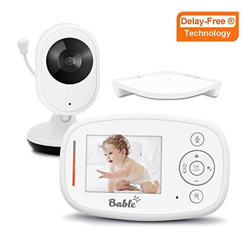 Bable Vigilabebés X1-Plus con tecnología Delay-Free, 2.4GHz vigilabebes con cámara , visión nocturna por infrarrojos, charla bidireccional, vigilancia de temperatura, nanas, proyector y soporte para pared