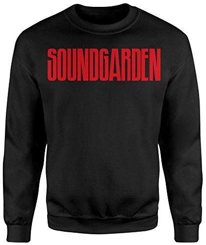 Felpa Unisex Soundgarden Text - Felpa Set in girocollo LaMAGLIERIA Nero