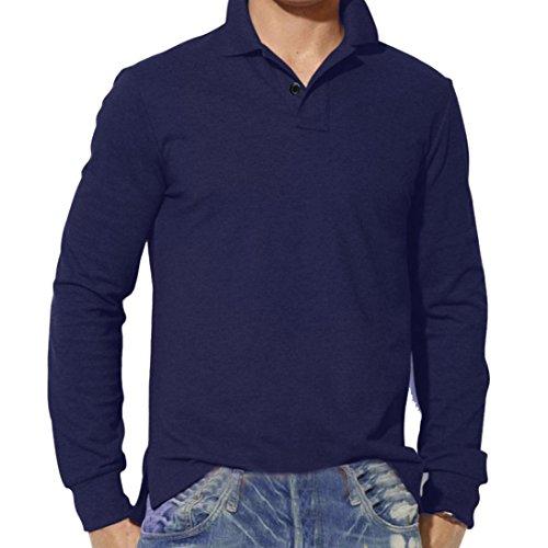 Herren Tops,TWBB Vintage Einfarbig Männer Oberteile V-Ausschnitt Shirt Lange Ärmel Schlank Hemd Bluse Persönlichkeit Sweatshirts