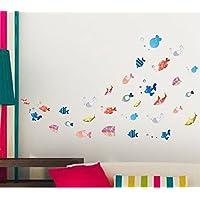 Revesun xl2003bajo el mar peces adhesivos pared vinilo adhesivo decorativo pared extraíble adhesivos decorativos para dormitorios Niños Habitaciones Bebé Nursery Niños y Niñas Dormitorio