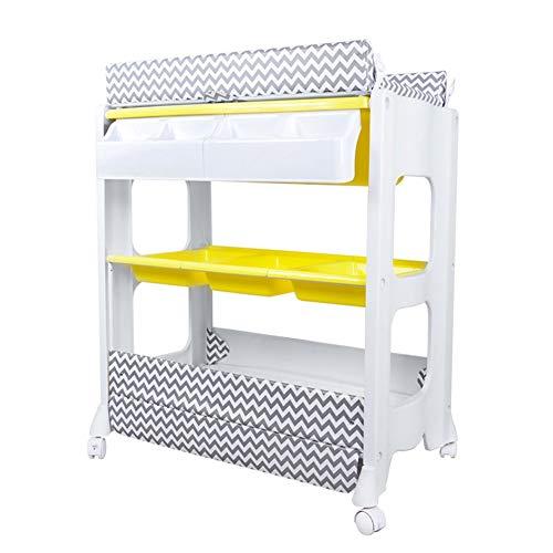 Wickeltische kommoden Changing Table Station und Badewanne Unit, Kleinkinder Massage Bett, tragbare Wechsler Baby Storage Dresser mit Rädern -