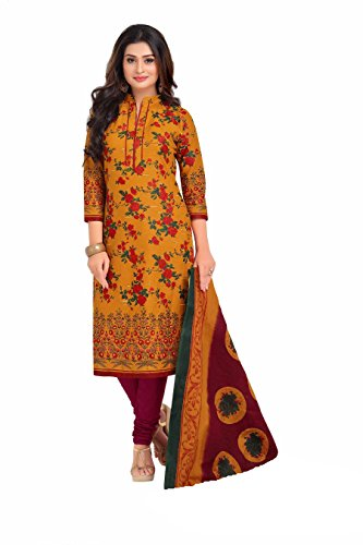 Miraan Women's Cotton Dress Material (Band1603_Multicolor_Free Size)