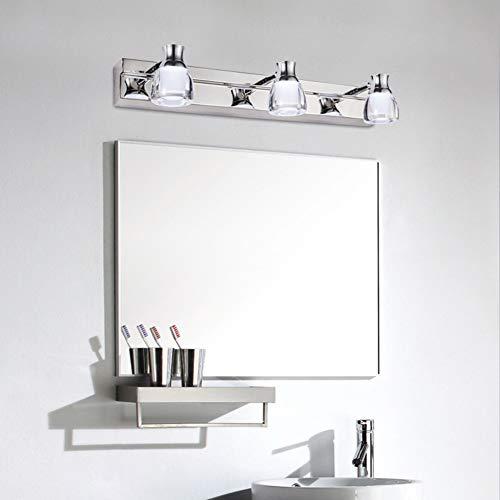 (CCSUN Led spiegelleuchte badlampe, IP44 Wasserdicht Anti - nebel Led spiegelbeleuchtung Einfache Edelstahl Wand spiegel vordere eitelkeitslichter-drei Head Warmes Licht)