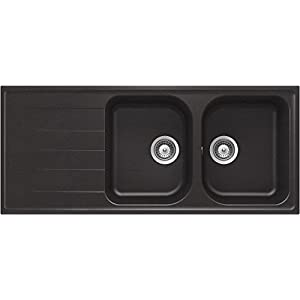 Schock LITD200A14N – Fregadero (Undermount sink, Rectangular, Negro, Semicírculo, 341 x 421 mm, Semicírculo)