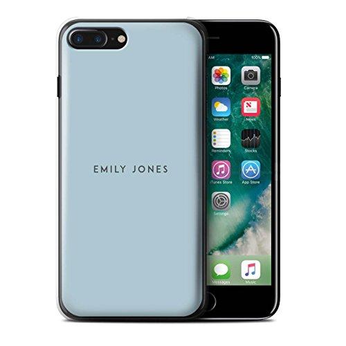 Personalisiert Individuell Pastell Stempel Hülle für Apple iPhone 8 / Orange Design / Initiale/Name/Text Schutzhülle/Case/Etui Blaues