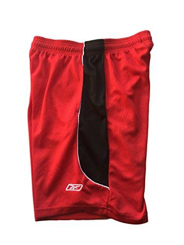Reebok, pantaloncini atletica a due colori Red / Black