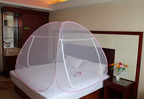 Royal Foldable Double Bed Mosquito Net (Pink)