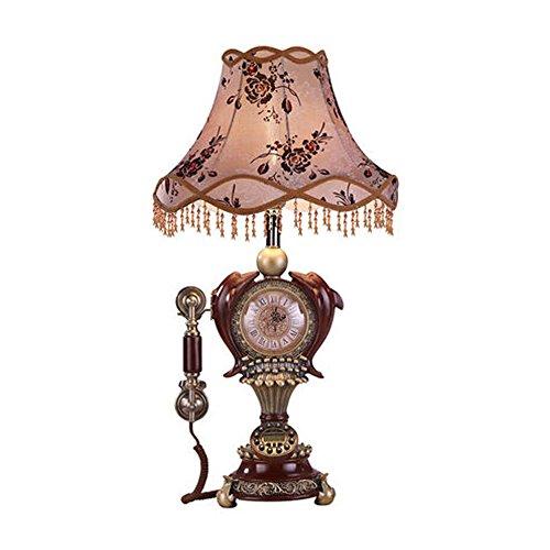Milaya ji bin shop® lampada da tavolo telefono retro home linea ufficio telefono fisso stile europeo alto 80cm +