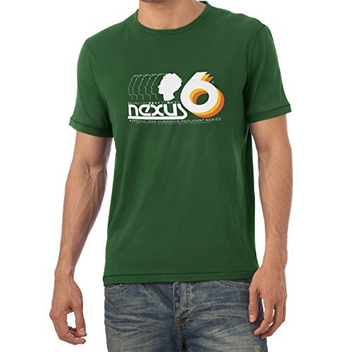 NERDO - Nexus 6 Personalized Humanoid Replicant Series - Herren T-Shirt Flaschengrün