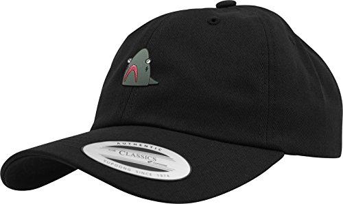 Black Tee Cap (Mister Tee Shark Dad Cap Kappe, Black, One Size)
