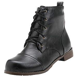 Stiefeletten Herren Schnürstiefelette mit Absatz Kurze Stiefel Ankle Boots Freizeitstiefel Schlupfstiefel