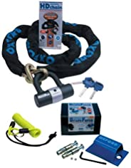 OXFORD SOLD SECURE HD MOTORBIKE MOTORCYCLE SECURITY HARD STAAL 2M CHAIN MET BRUTE FORCE GROND ANCHOR EN DLR