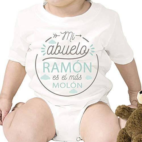 Regalo personalizado: body para bebé 'Abuelo Molón' personalizado co