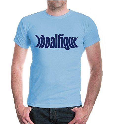 T-Shirt Idealfigur-XXL-Skyblue-Navy (Abnehmen Maillot)