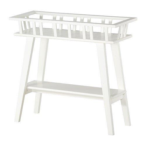 IKEA LANTLIV Blumenständer in weiß; (68cm)