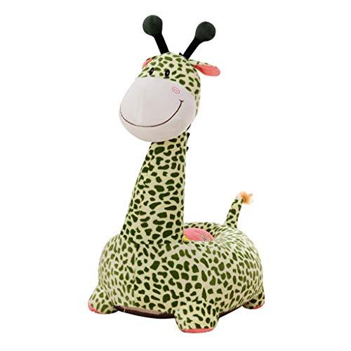 F Fityle Niedliche Sitzsackhülle Sitzsack Sitzkissen Sitzsäcke für Kinderzimmer - Grüne Giraffe (Fahrt)