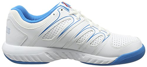K-Swiss Calabasas Omni Herren Tennisschuhe Weiß (HYL BLUE/FIERY RED)