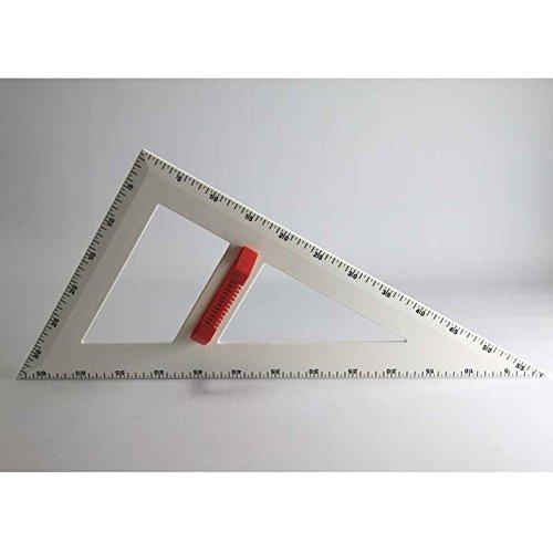 FTM Profi-Line Spitzer Winkel 60cm Zeichengerät für Tafel und Whiteboard mit Griff, Schulbedarf und Lehrmittel