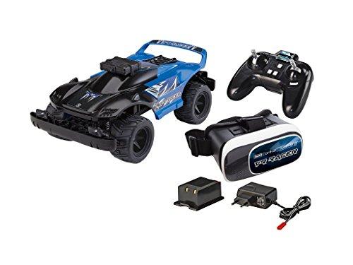 Revell Control X-treme 24817 - RC Car mit FPV-Kamera und VR-Brille - schnelles, robustes ferngesteuertes Auto mit 2.4 GHz Fernsteuerung, Akku und Ladegerät - VR RACER (Drohne Auto)
