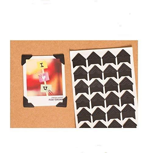 Selbstklebende Foto-Ecken, selbstklebend, säurefrei, 360 Stück Schwarz