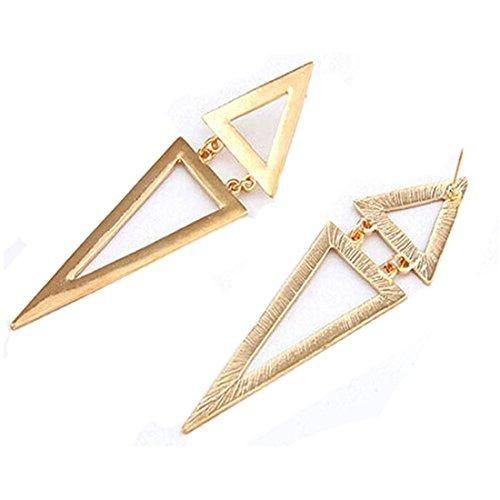 LHWY La Moda Vintage DiseñO Geometrico De Big Triangle Stud Aretes NuevosLHWY