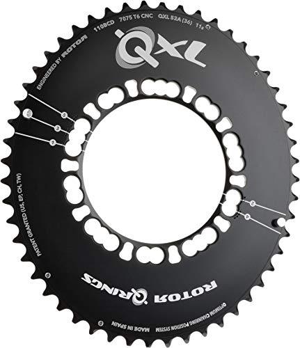 rotor QXL-Ring Road Aero Kettenblatt 110mm 5-Arm außen schwarz 2018 Kettenblätter