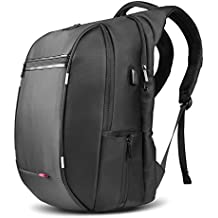 SPARIN Laptop Zaino, Laptop Zaino Scuola Business per Computer Portatile da 17,3 pollici con [USB Port] [Multi-funzionale] [Impermeabile] [Alta Capacita] [anti-furto] -NERO