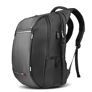 41VBMSNuPyL. SS324  - SPARIN Mochila Hombre para Portátil, Backpack para Laptop15.6 17.3 Pulgadas con [Puerto USB] Mochila Negocio [Multifuncional] [Alta Capacidad] Negra para Hombre (17,3 Pulgada)