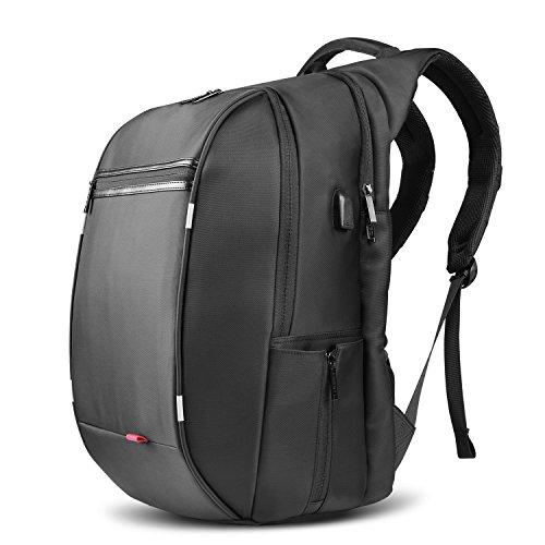 SPARIN Business Laptop Rucksack 17 zoll Taschen mit [USB Anschluss] ,Notebook Computer herren rucksack [Hohes Fassungsvermögen] [Anti-Diebstahl Sicherung] für Geschäfts- und Urlaubsreisen - Schwarz - Rucksack 17 Computer Zoll