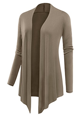 sexylady - Gilet - Solid - Manches Longues - Femme XX-Large Moka