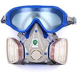 Vislone Máscara química del pesticida de la pintura antipolvo de la máscara antigásicas del respirador de la máscara de gas de la cara llena del silicón