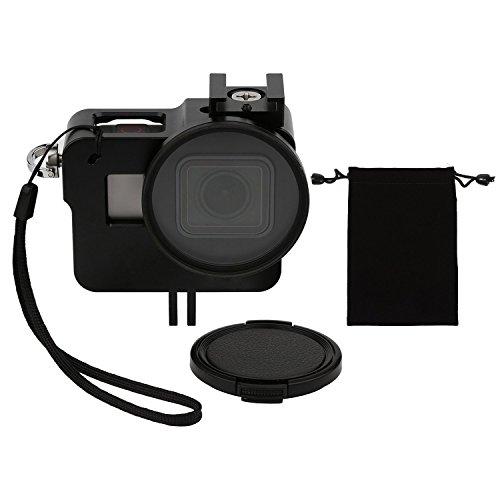 SHOOT Aluminium Legierung Skelett schützende Gehäuse Case mit 52mm UV Filter für Gopro Hero 6 Action Kamera (Go Pro Hero Sd Karte)