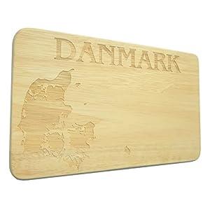 Brotbrett Danmark Dänemark Frühstücksbrett Gravur