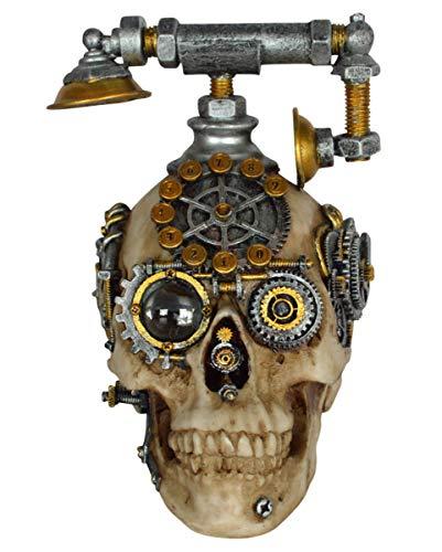Horror-Shop Steampunk Telefon als Tischdeko   Kunststein