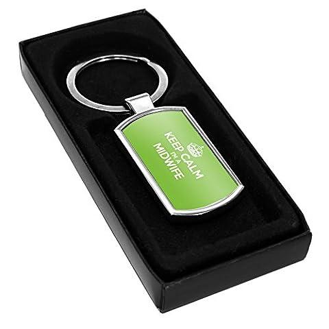 Grün Keep Calm I 'm a Hebamme Schlüsselanhänger aus Metall 0228Türklingel