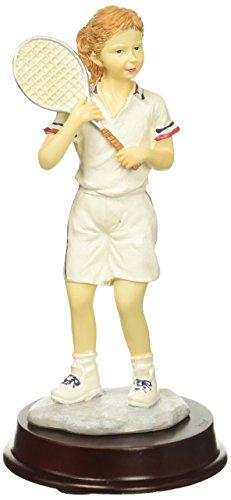 Smart Living Company Tennis Mädchen Figur, 8,9x 8,9x 16,5cm