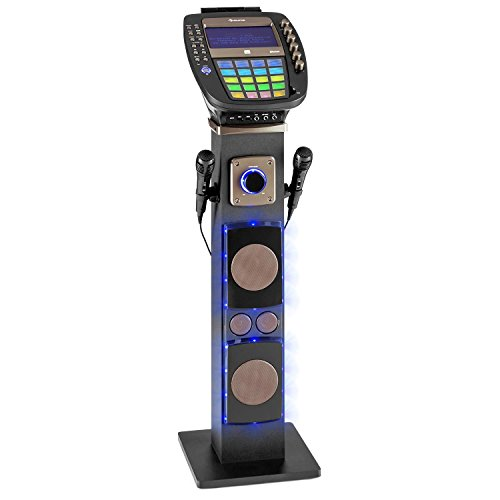 auna KaraBig • Karaoke Anlage • Karaoke Player • Karaoke Set • Turmlautsprecher • Bluetooth • 7