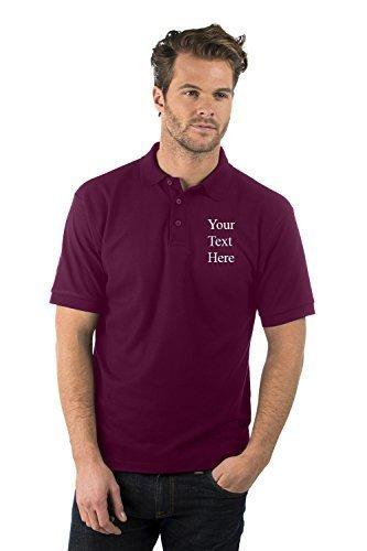 Personalisiert/Gestickt - Bruntwood Aufgeld Polo Hemd - Embroidered Premium Polo Shirt - Herren & Damen Burgundrot