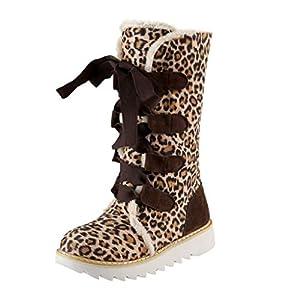 ODRD Retro Stiefel Mode reine Farbe runde Kappe Lace-Up Flat Vintage Plus Size Frauen Schneeschuhe Booties Stiefeletten Schneeschuhe Military Stiefel im Freien Desert Tooling Winterstiefel Schuhe