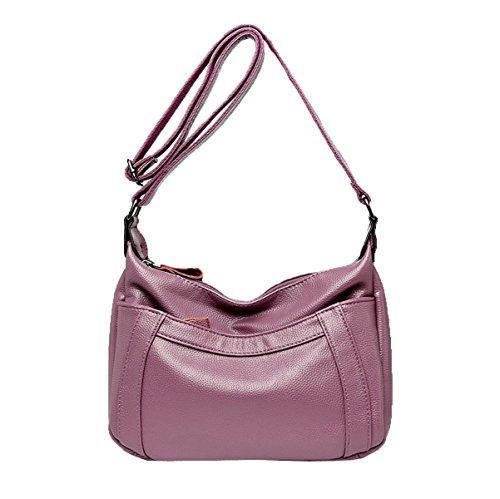 Sacchetto Di Spalla Di Crossbody Del Sacchetto Di Cuoio Della Borsa Di Modo Delle Donne Per La Signora Purple