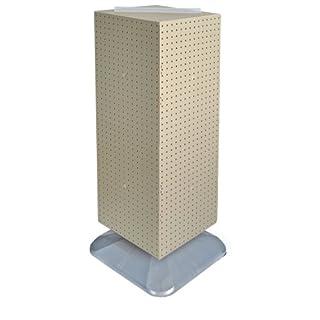 Azar Displays 701435-ALM Standard Four-Sided Interlocking Pegboard Floor Display, Almond Solid by Azar Displays