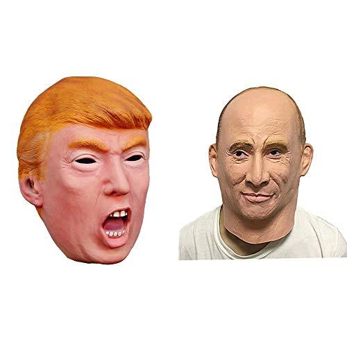 Fayoo Halloween Donald Trump Mask-Republikanischer Präsidentschaftskandidat Maskiert Russischen -