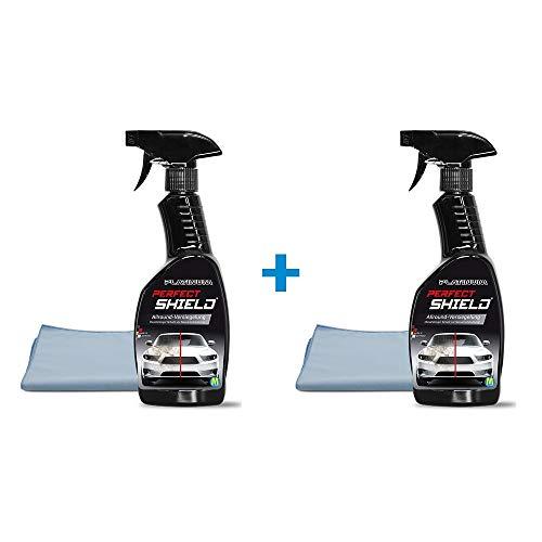 Platinum Perfect Shield Doppelpack mit 2X Poliertuch | Auto Versiegelung | Abperleffekt | Lackschutz | Aufbereitung | Autopflege | Lotuseffekt | Das Original aus dem TV von Mediashop