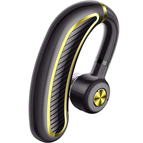 LRWEY Bluetooth Headset, Bluetooth Headset V5.0 Freisprecheinrichtung Ohrhörer W/Mic Wireless Ohrhörer Auto Kopfhörer, für iPhone, iPad, Samsung, Huawei, Tablet usw.