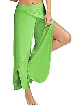 Pantaloni con Estivo Pantaloni Baggy Yoga Donna Taglie Forti(L-5XL),Mambain
