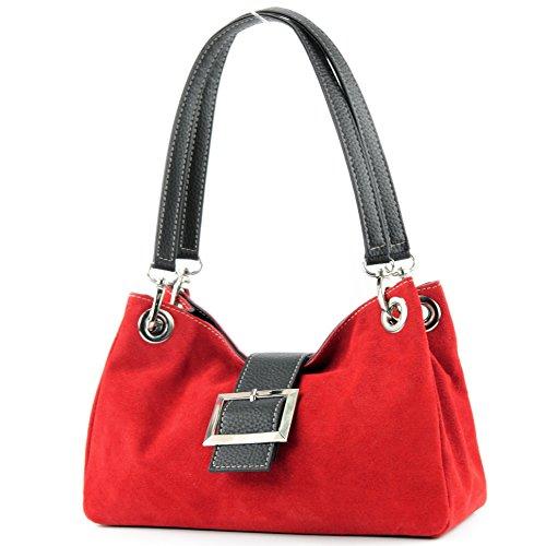 Ital. TL02 -borsa a mano da donna Rosso (rosso)